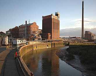 Stoneferry - The Isis Oil Mills (Cargil plc), and Reckitt's chimney (August 2008)