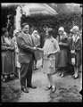 The Secretary to the President, Everett Sanders congratulates Betty Robinson of South Bend, Indiana, on winning the fourth annual National Spelling Bee in Washington. The spelling bee LCCN2016888806.tif