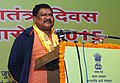 The Union Minister for Tribal Affairs, Shri Jual Oram addressing at a reception hosted for the tribal guests and tableau artists, who participated in Republic Day parade-2015, in New Delhi on January 31, 2015.jpg