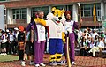 The Veteran Athletes, Shri Milkha Singh and Shri G.S. Virithi with the Queen's Baton Delhi 2010 and Shera, the Mascot of Commonwealth Games Delhi 2010, in Chandigarh on July 03, 2010.jpg