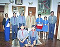 The Vice President Shri Bhairon Singh Shekhawat with the delegation of Bharat Scouts & Guides on the occasion of Scouts & Guides Foundation Day in New Delhi on November 7, 2004.jpg