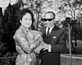 The Vietnamese Ambassador in Australia, Mr Nguyen Van Hien and his wife, visit Queensland - cuddling a koala - 1965.jpg