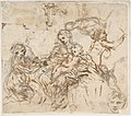 The Virgin and Child with Saint Martina, Another Study of Saint Martina, Studies of a Head, and of an Arcade (recto); Figure Studies (verso) MET DP809205.jpg