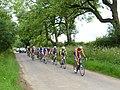 The peloton approaches Huggate - geograph.org.uk - 1399811.jpg