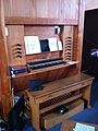 The pipe organ console in Christ Church, Chilwell.jpg
