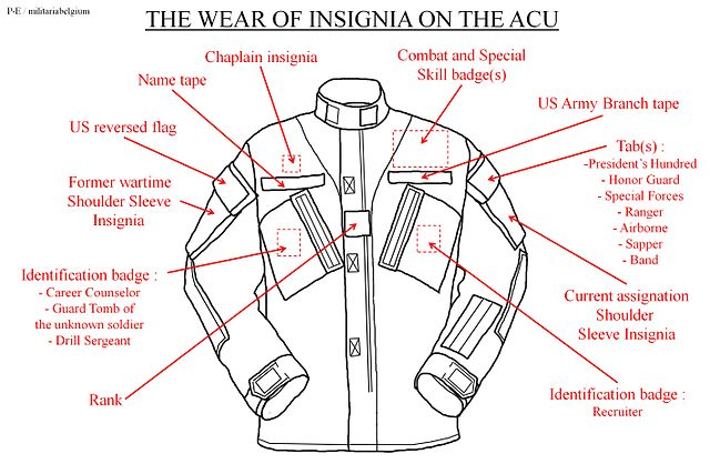 File:The wear of insignia on the Advanced Combat Uniform ...