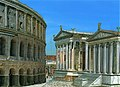 Theater of Marcellus, Temple of Apollo Sosianus, and Temple of Belona - past (32188518424).jpg