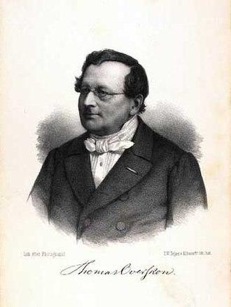 Thomas Overskou - Thomas Overskou, Danish theater actor, theater historian, and playwright.