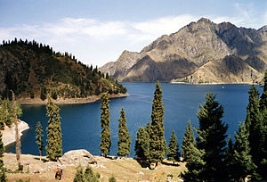 Bogda Shan - Tianchi Lake on the northern side of the Bogda Shan range