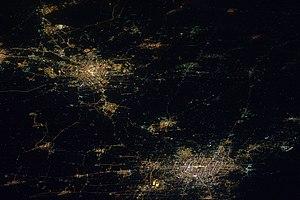 Jingjinji - Image: Tianjin and Beijing ISS026 E 010155 lrg