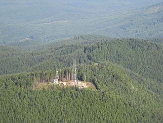 Tiger Mountain (Washington) - Aerial view of antennas on Tiger Mountain