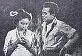 Tina Melinda and Del Juzar in Kafedo Film Varia Nov 1953 p17.jpg