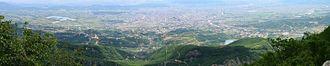 Dajti - Image: Tirana Albania pano 2004 07 14