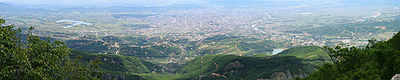 view of Tirana from the touristic Dajti Mt.