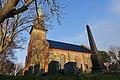 Tjøme kirke Church nygotisk langkirke 1866 Architect Anders Thorød Winter afternoon light No snow Cemetery Kirkegård Færder Municipality, Norway 2020-01-15 1880.jpg
