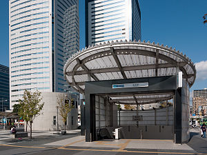 Toyosu Station - Exit 7 of the Tokyo Metro station in September 2011