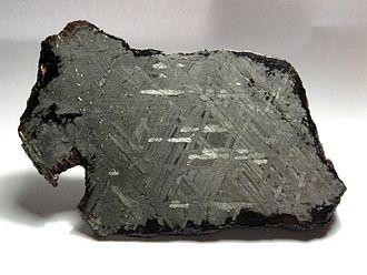Widmanstätten pattern - Image: Toluca Meteorite