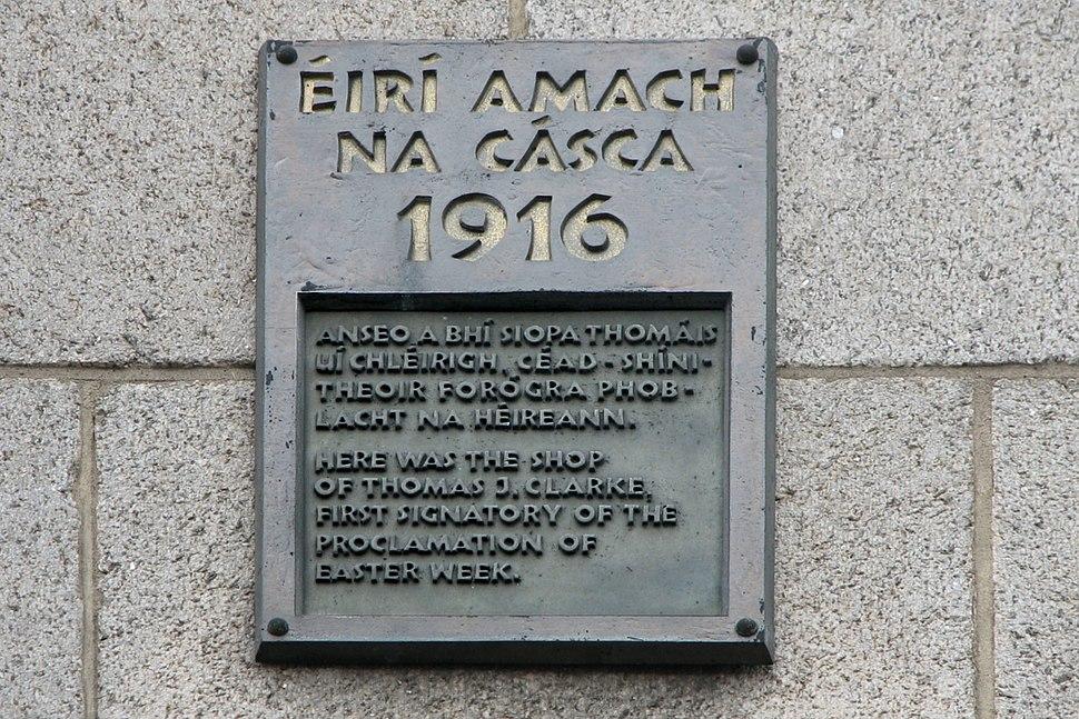 Tom Clarke 1916 commemorative plague