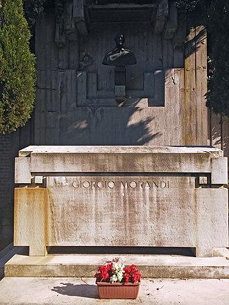 Giorgio Morandi - Morandi's tomb in the Certosa di Bologna.