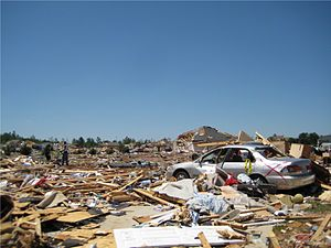 2011 Hackleburg–Phil Campbell, Alabama tornado - Destruction at the Carter's Gin subdivision in Toney.