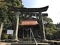 Torii and haiden of Takaki Shrine.jpg