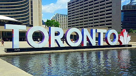 The Toronto sign was installed in the square in 2015