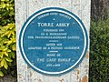 Torre Abbey plaque.jpg