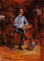 Toulouse-Lautrec - Princeteau in His Studio, 1881-1882.jpg