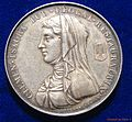 Toulouse France Silver Medal 1819 Clémence Isaure, obverse.jpg