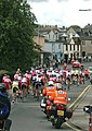 Tour of Britain approaching the lights (at green!) - geograph.org.uk - 228173.jpg