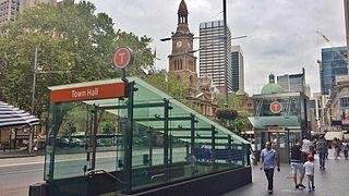 Town Hall railway station, Sydney railway station in Sydney, New South Wales, Australia