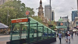Town Hall railway station, Sydney - George Street entrance in February 2015