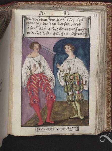 Trachtenbuch des Augsburgers Matthäus Schwarz (1497–1574), Landesbibliothek Hannover (Kopie, 18. Jh.)