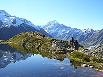 Tramping or hiking in Aoraki Mount Cook National Park..jpg