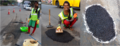 Transgender Priyanka Fixing potholes.png