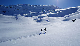 Cross-country skiing - Cross-country skiers in western Norway.