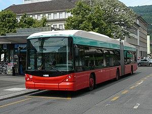 Trolleybuses in Biel/Bienne - A Swisstrolley articulated trolleybus in Biel/Bienne