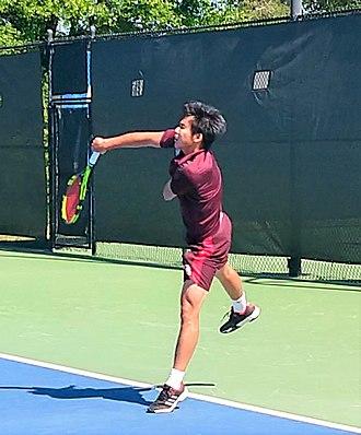 Troy Trojans - Trojans men's tennis player at the 2018 Sun Belt Men's Tennis Championships.