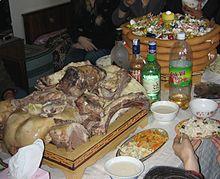 Pasto consumato durante lo Tsagaan Sar
