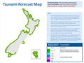 Tsunami forecast map following Kernadec earthquakes - 5 March 2021 1PM.png