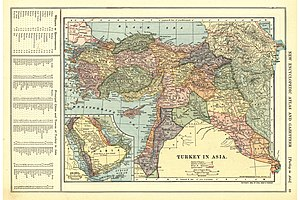 Occupation of Western Armenia - 6 Armenian provinces of Western Armenia. Patten, William and J.E. Homas, Turkey in Asia (with 6 Armenian provinces of Western Armenia), 1903.