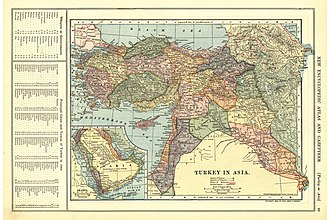 Vilayet - Image: Turkey in Asia, 1909