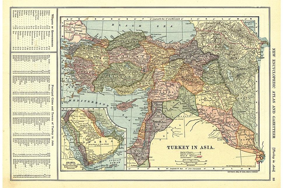 Turkey in Asia, 1909
