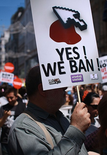 2011 protests against internet censorship. Turkey internet ban protest 2011.jpg