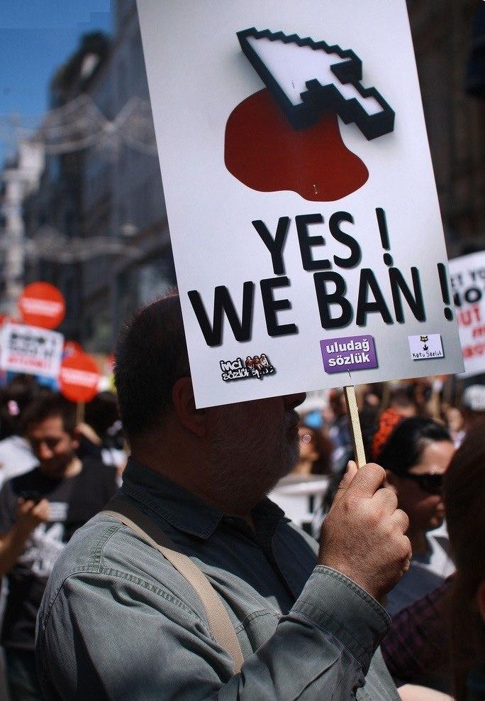 Turkey internet ban protest 2011