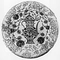 Turkish - Iznik Rhodian Fritware Plate with Depiction of a Ewer - Walters 481227.jpg
