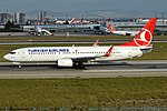 Turkish Airlines, TC-JGY, Boeing 737-8F2 (39954415571) (2).jpg