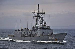USS Estocin (FFG-15) - TCG Göksu (F 497) in April 2015.