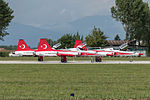 Turkish stars Northrop (Canadair) NF-5B ready for takeoff (21904028179).jpg
