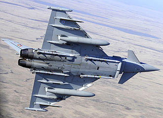 No. 1435 Flight RAF - A Typhoon flying over the Falkland Islands